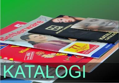 Katalogi, broszury